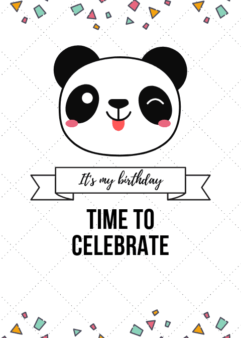 Panda Birthday Party template