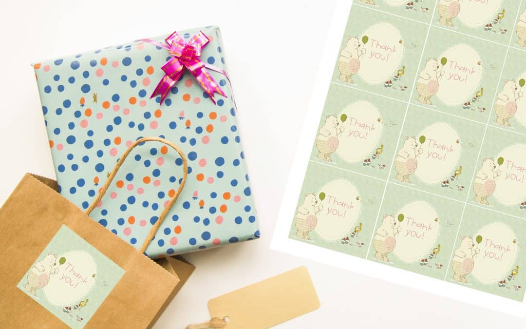 Free gift tags for beary cute gifts