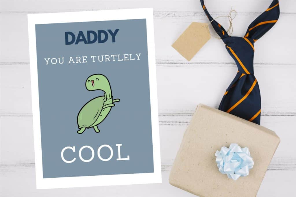 Father's Day Card- turtley cool