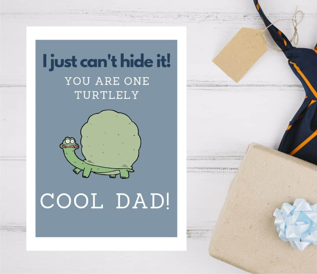 Father's Day Card- I can't hide