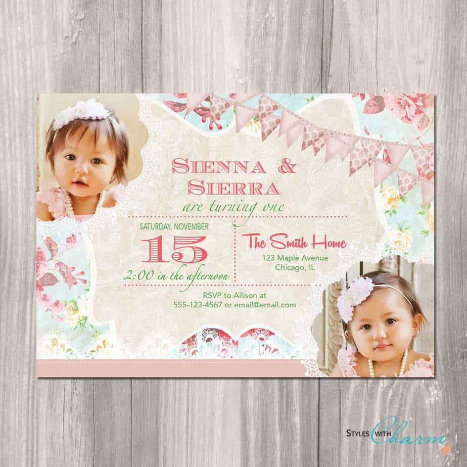 First Birthday Party Invitation 3