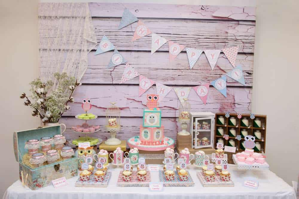 First Birthday Party Shabby CHic Owl