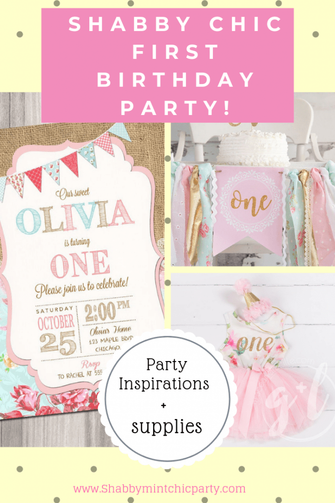 Shabby Chic First Birthday Party Pinterest