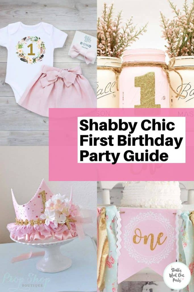 Shabby Chic First Birthday Party Supplies