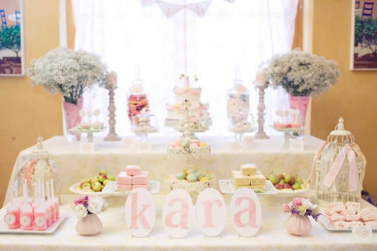 Shabby Chic First Birthday Party starry