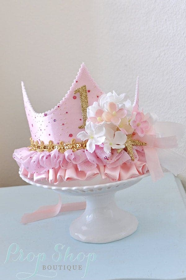 first birthday party birthday crown