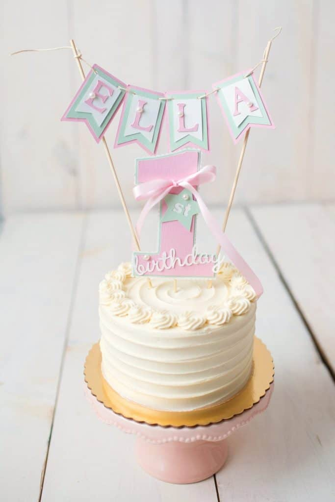 first birthday party cake topper