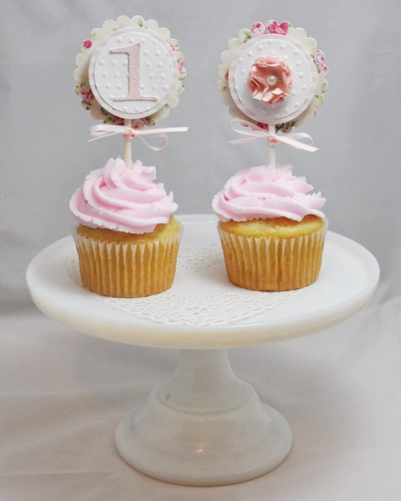 first birthday party cupcake toppers