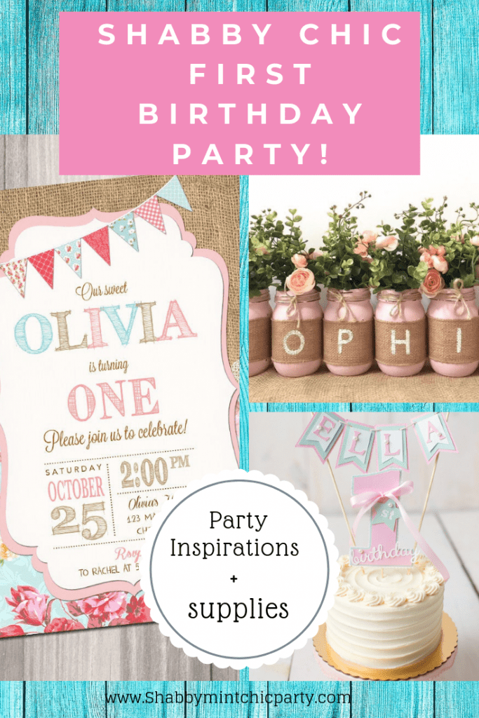 habby Chic First Birthday Party Pinterest blue
