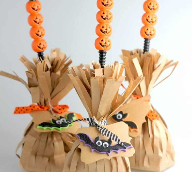 Halloween treat bags and boxes broom bags Sheri Silver