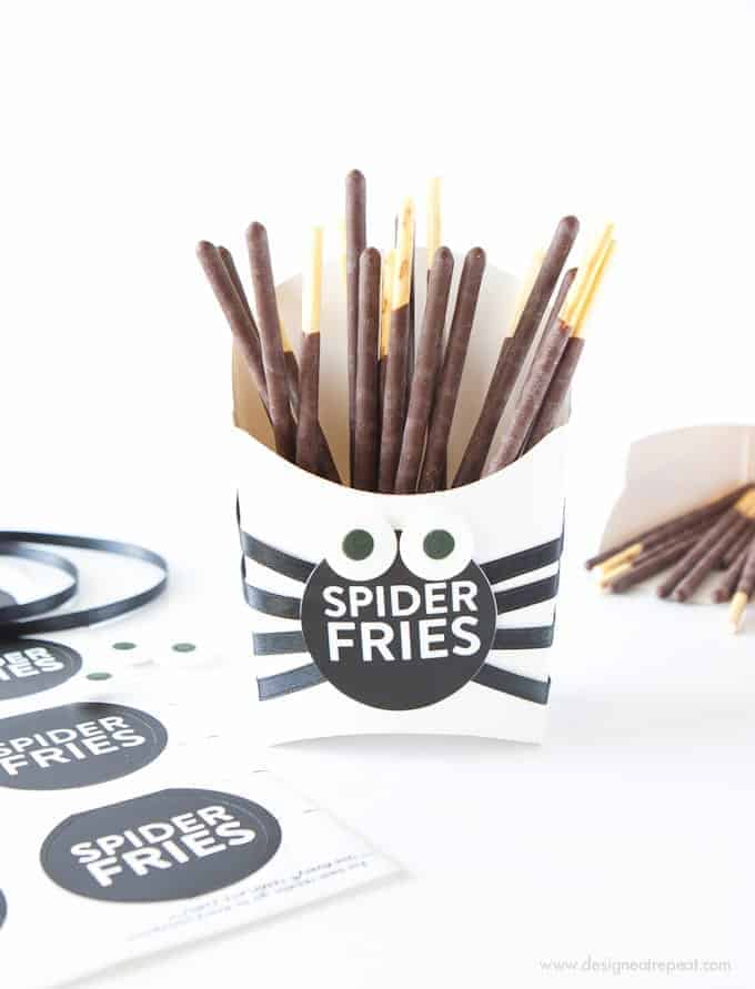 Spider Fry Boxes Halloween