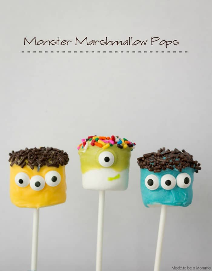 Halloween Treat Marshmallow Monster Pops