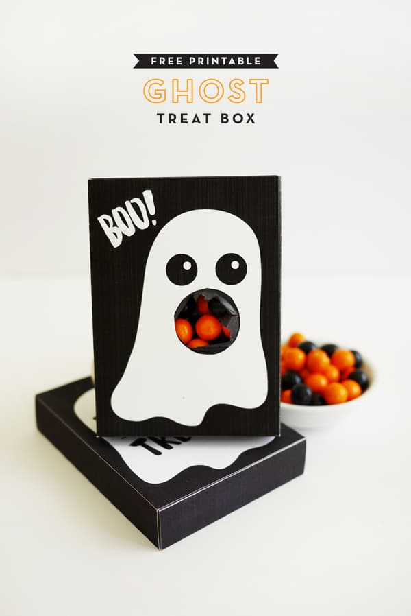 Halloween gift box ghost