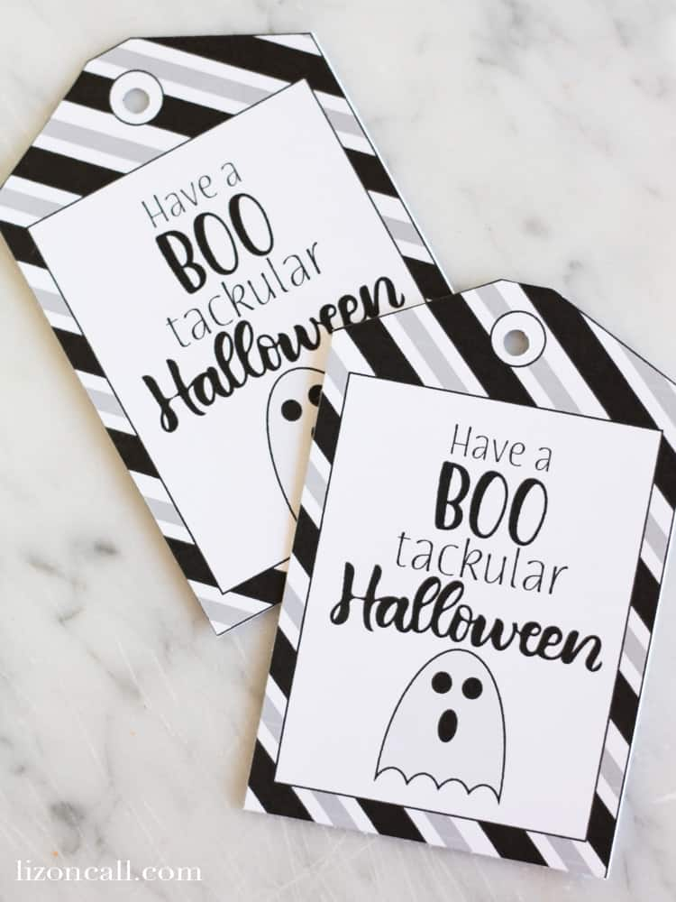 halloween gift tags by Liz On Call