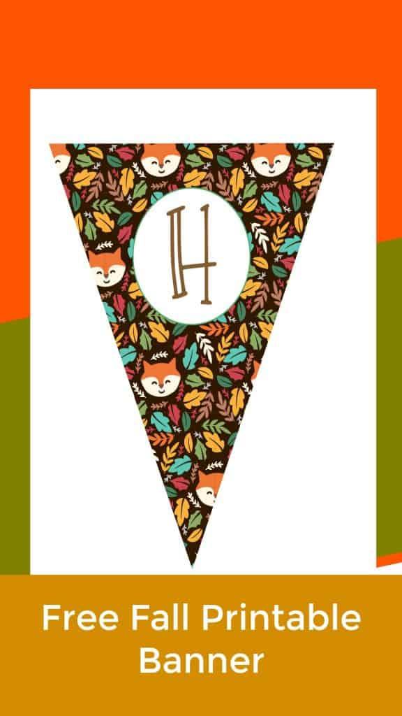 fox fall banner letter printable