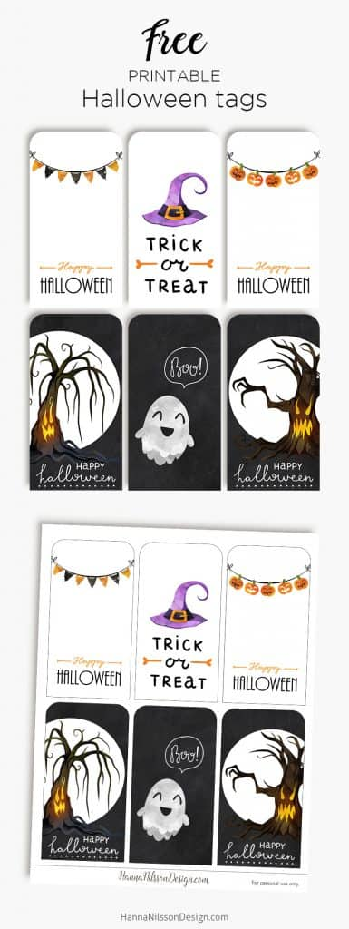 Halloween gift tags ghosts