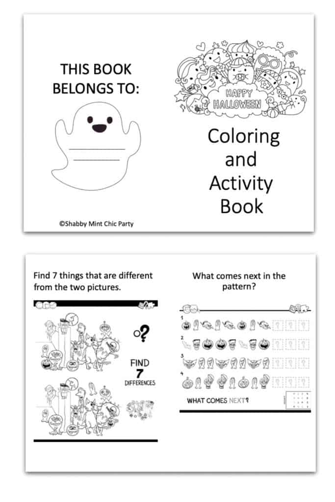 Free Halloween coloring book for kids with games and coloring pages