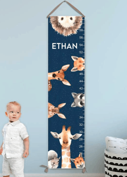 Growth Chart woodland boy non clothing gifts