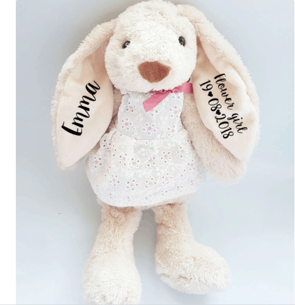 baby girl non clothing gifts personalized bunny etsy