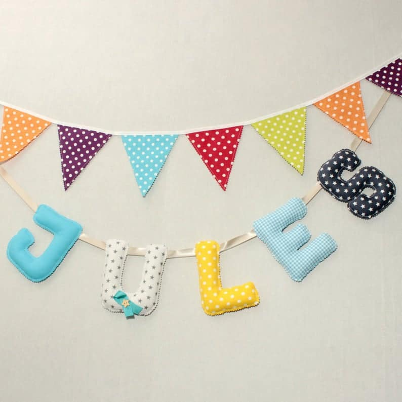 fabric letters by Popeline Deco
