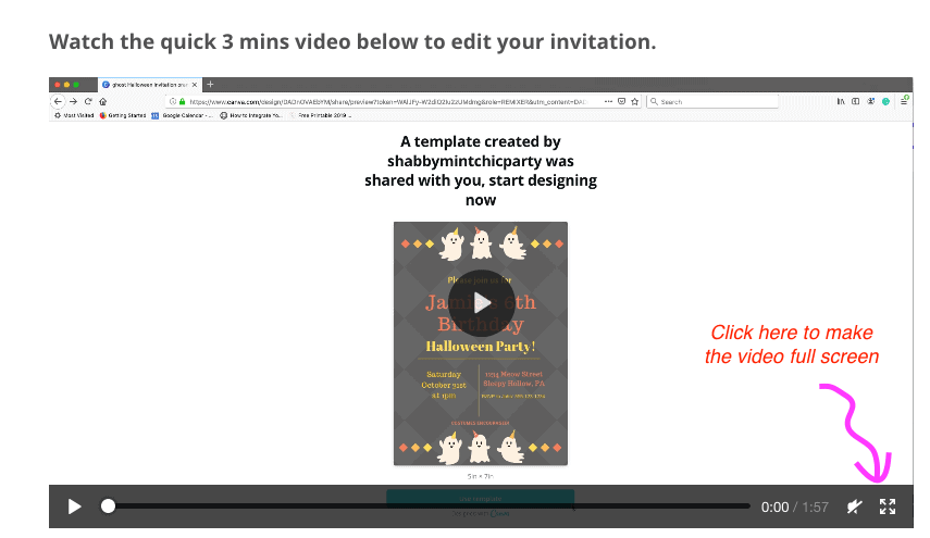 full screen video direction