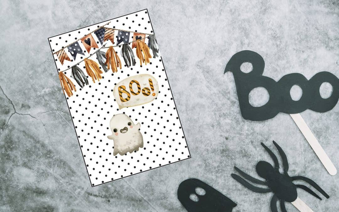 11 Boo-tiful Halloween ghost gift tags and boxes!