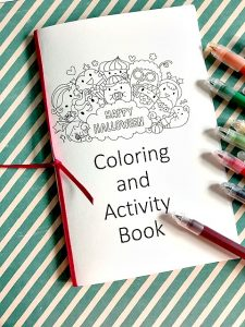 Halloween activity and coloring book. Fun to give out or entertain the kids until Halloween