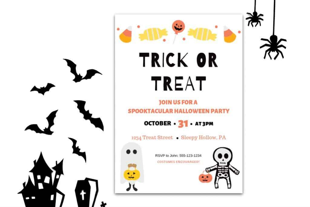 halloween invitation T or T m