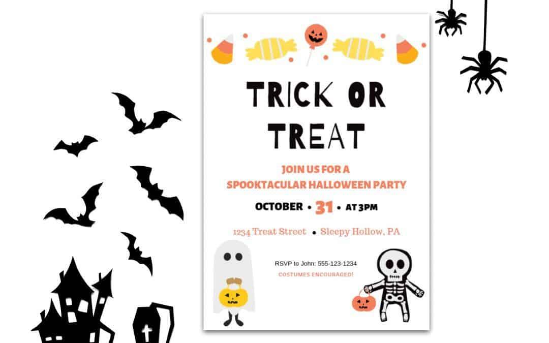 Free Halloween Party Invitation – Canva Templates