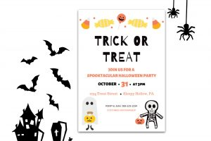 halloween invitation T or T m
