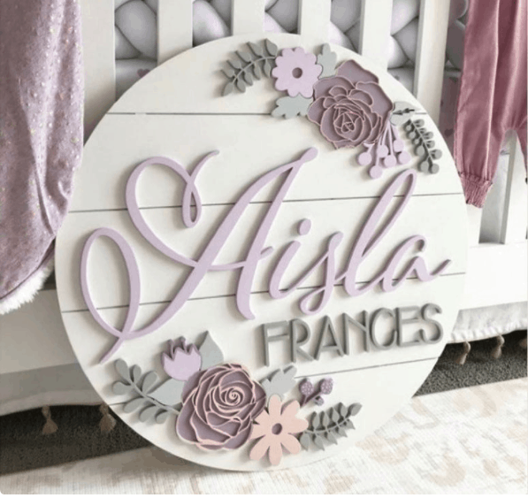 name wood wall art nursery girl gift guide wild comb design etsy