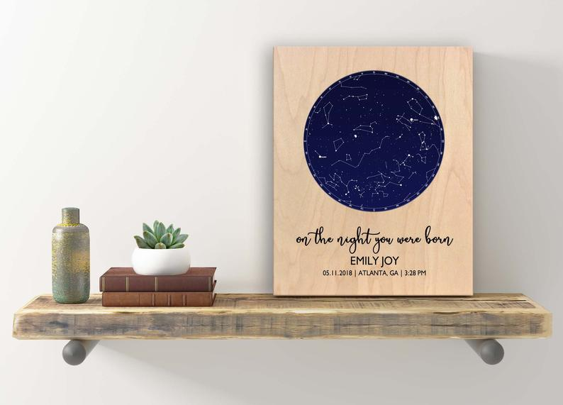 stars personalized wall art branchNroot