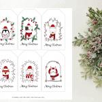 Free Cute Animal Christmas Gift Tag Printable