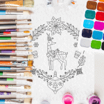 Free Christmas Mandala Coloring Printable