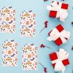 Free Joy Christmas Gift Tag Printable