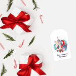 Free Unicorn Christmas Gift Tag Printable