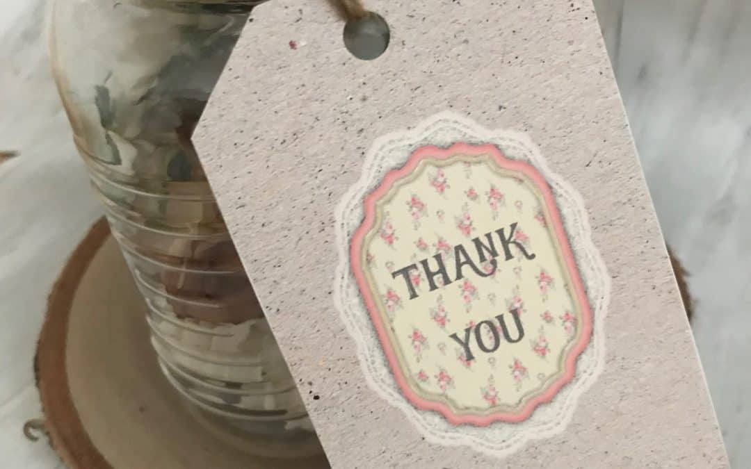 Shabby Chic Thank you Gift Tag Printable
