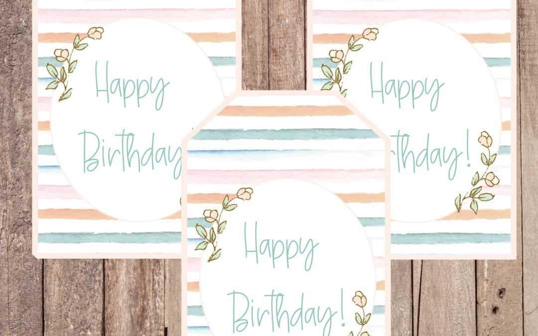 Free Pastel Spring Gift Tag Printable
