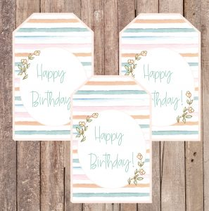 free happy birthday gift tag paste stripes floral-01