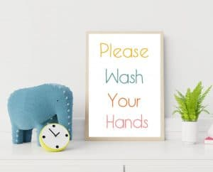 please wash your hands simple frame free printable-01