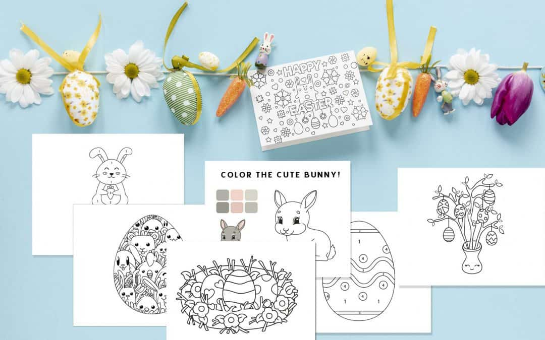 Free printable Easter coloring pages and card