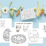 Free Printable Easter Coloring Pages + Greeting Card