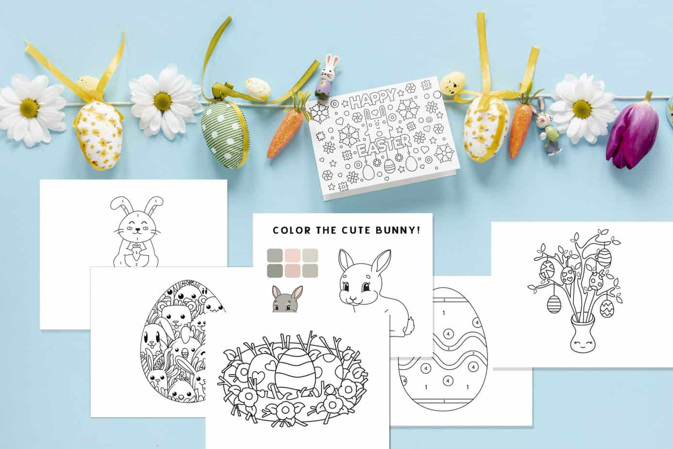 Free Easter Colouring Pages - The Organised Housewife | 1365x2048