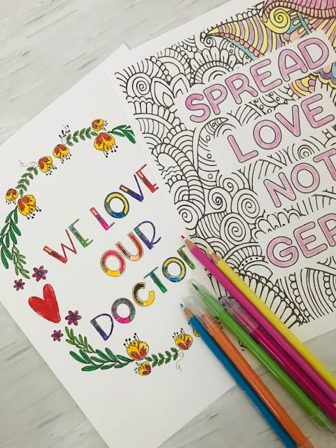 Appreciation and Positive Affirmation Coloring Pages for Kids and Adults