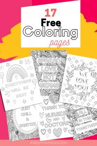 free coloring pages to show our appreciation to everyone in helping to fight this COVID-19 pandemc Kids Busy Bundle