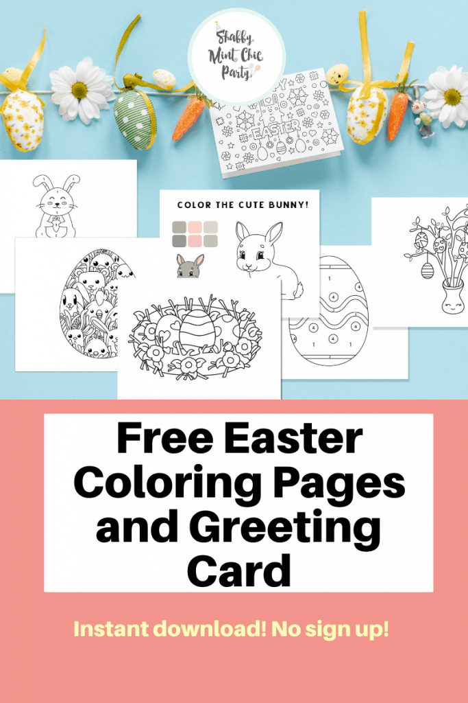 Free printable color pages for Easter Kids