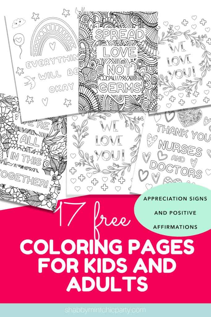 17 coloring pages to show your appreciation to the healthcare and essential workers Coloring pages Positive affirmations