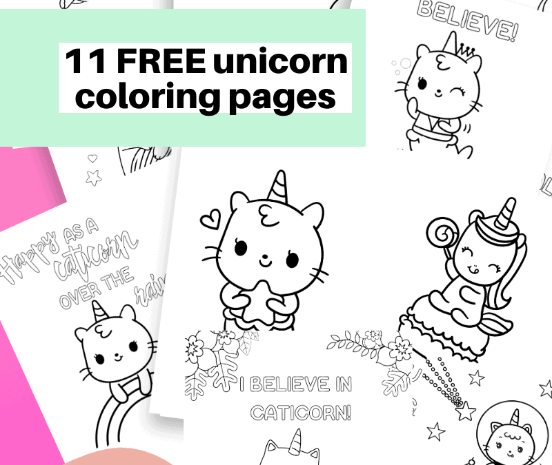 Free Unicorn coloring pages (11 total pages)