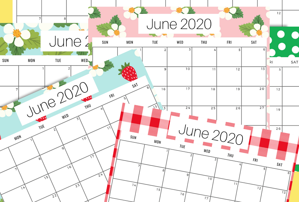 Free June 2020 Monthly Planner