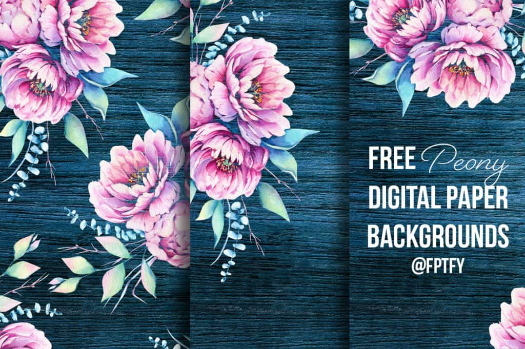 peony digital papers from FPTFY